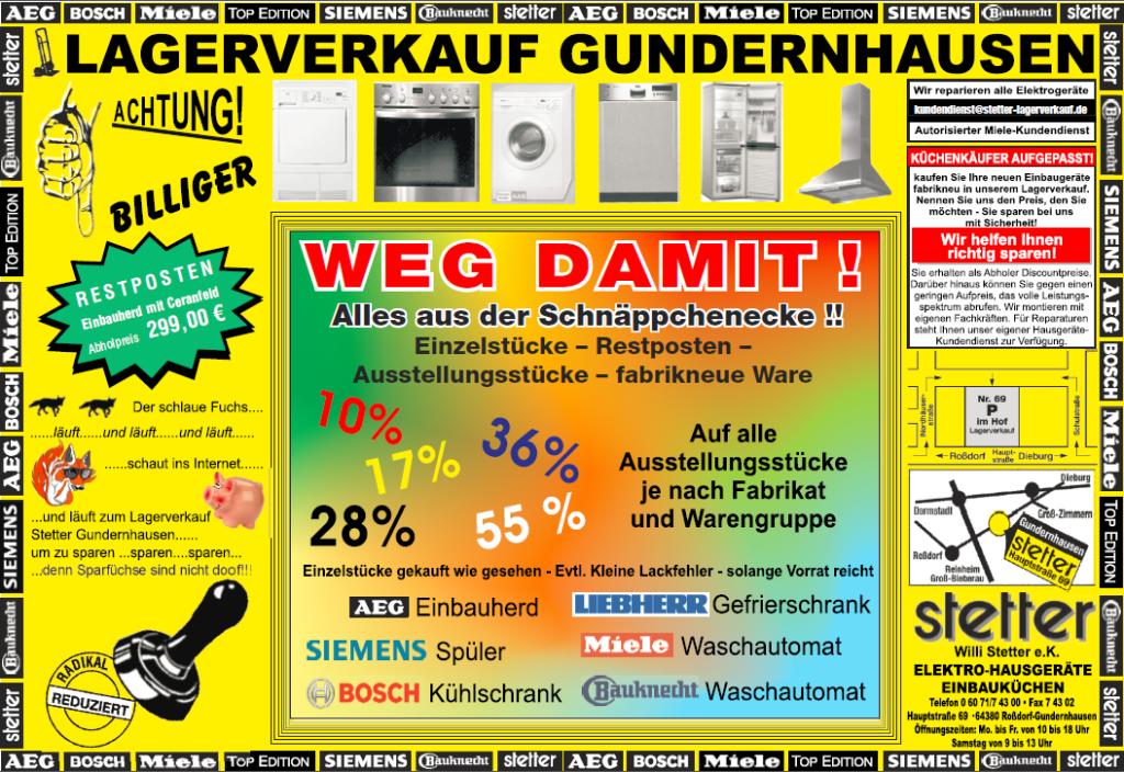 Miele Kundendienst Karlsruhe stetter lagerverkauf elektro hausgeräte und küchen home